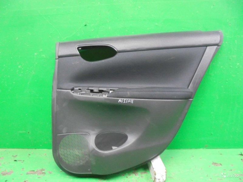 Обшивка двери Nissan Sentra B17 2012 задняя правая (б/у)