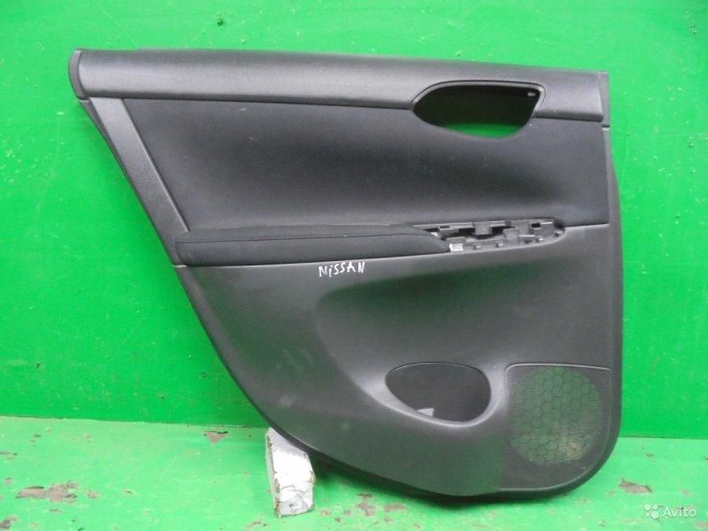 Обшивка двери Nissan Sentra B17 2012 задняя левая (б/у)