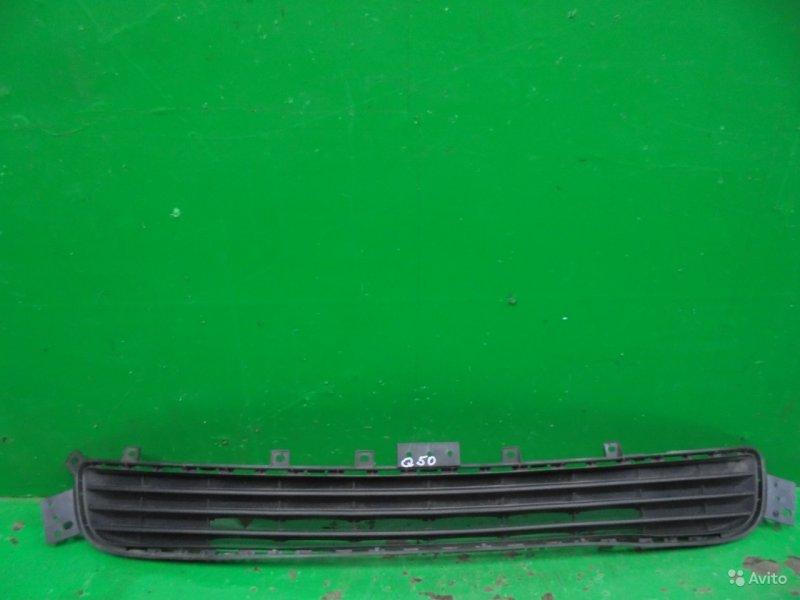 Решетка бампера Infiniti Q50 2013 передняя нижняя (б/у)