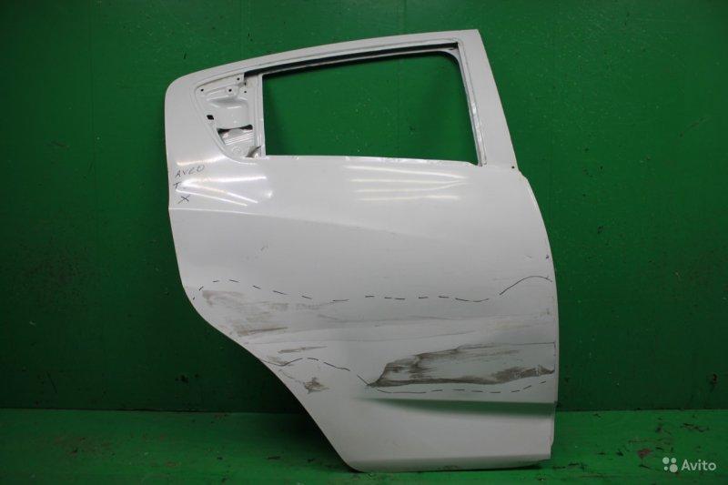 Дверь Chevrolet Aveo T300 2011 задняя правая (б/у)