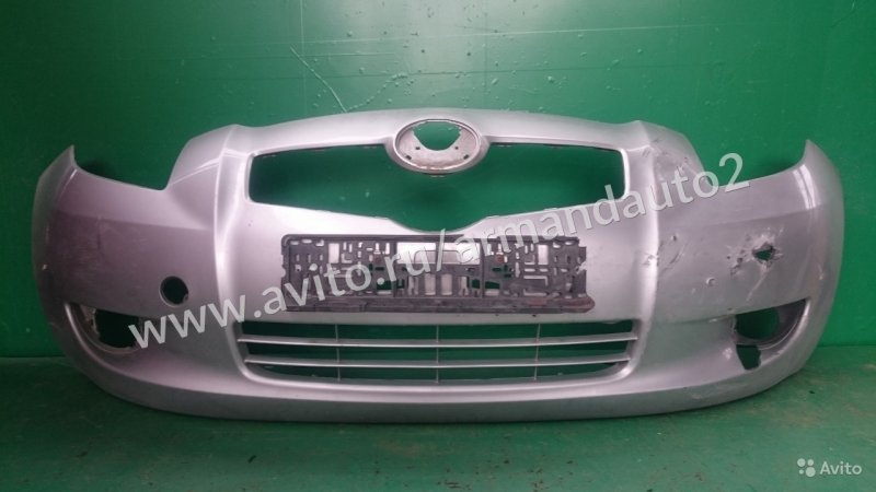 Бампер Toyota Yaris 2 РЕСТАЙЛИНГ 2009 передний (б/у)