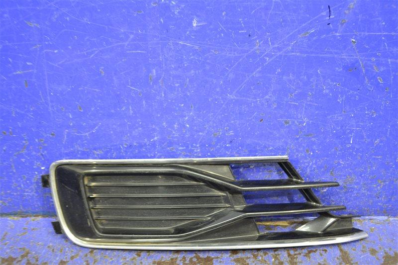 Решетка бампера Audi A6 C7 2011 передняя правая (б/у)