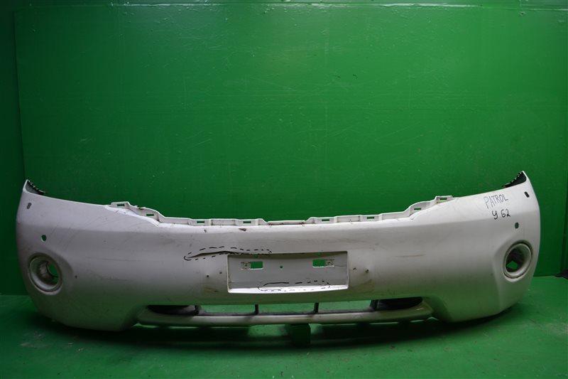 Бампер Nissan Patrol Y62 2010 передний (б/у)