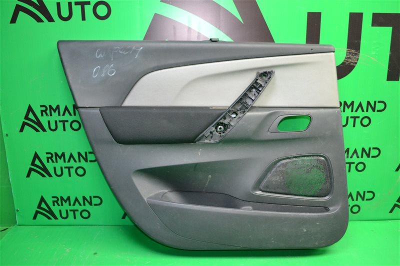 Обшивка двери Citroen C4 Picasso 2 2013 задняя левая (б/у)