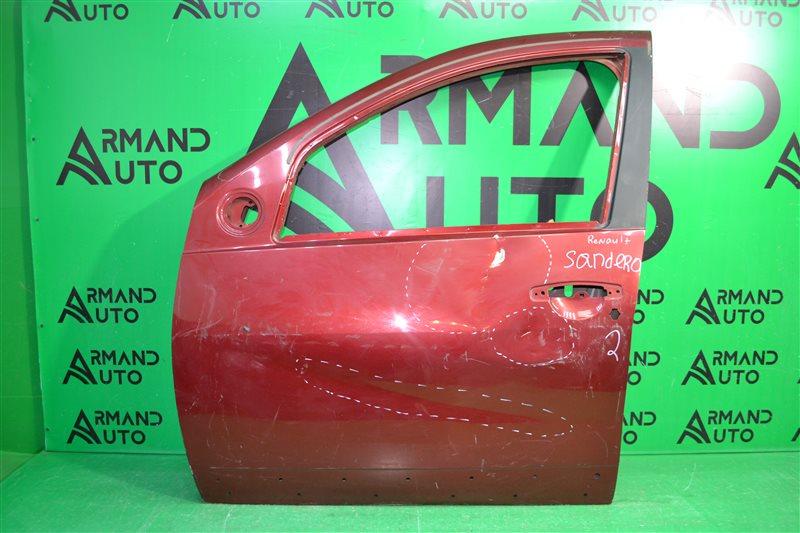 Дверь Renault Sandero 2009 передняя левая (б/у)