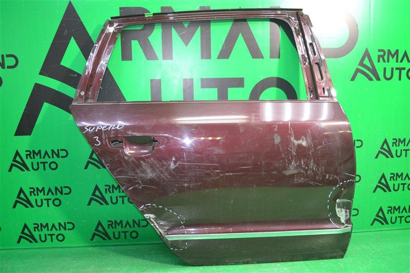Дверь Skoda Superb 2 2008 задняя правая (б/у)