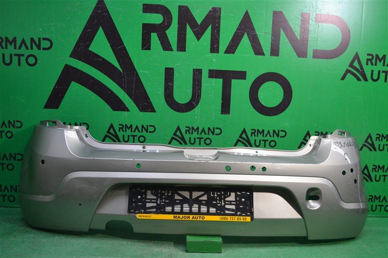 Бампер Renault Sandero 2009 задний (б/у)