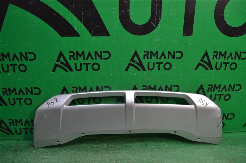 Накладка бампера Mitsubishi Asx РЕСТАЙЛИНГ 2 2016 передняя (б/у)