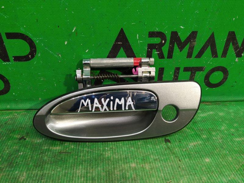 Ручка двери Nissan Maxima CA33 1999 передняя левая (б/у)