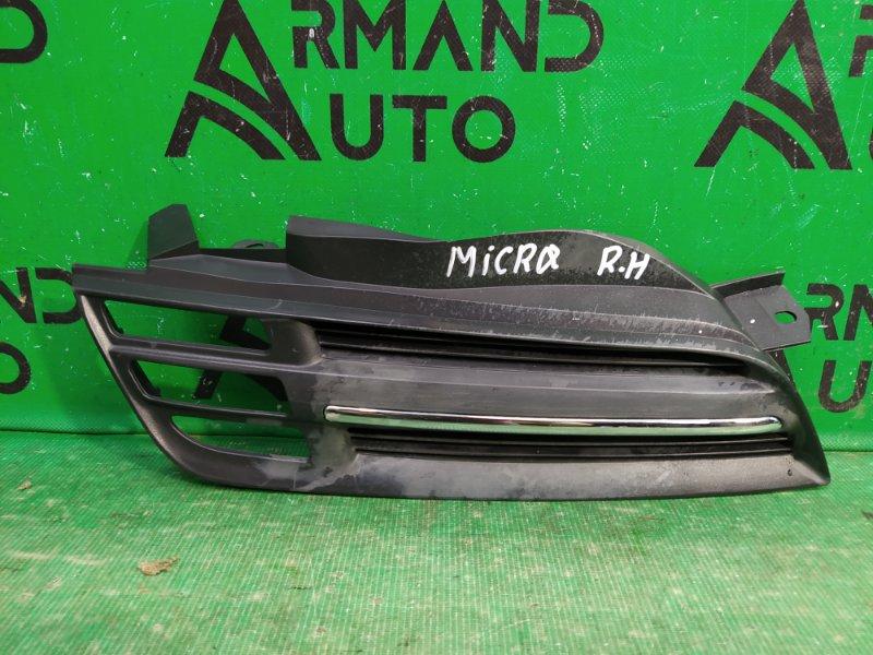 Накладка бампера Nissan Micra 3 2002 правая (б/у)