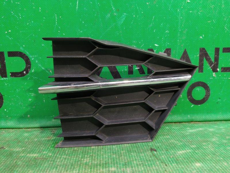 Решетка бампера Skoda Superb 2008 передняя правая (б/у)