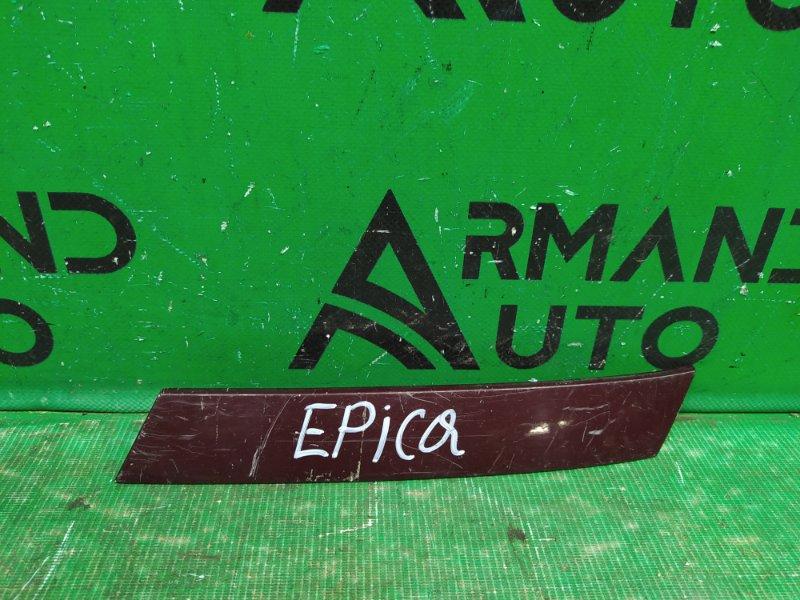 Молдинг решетки радиатора Chevrolet Epica 2006 левый (б/у)