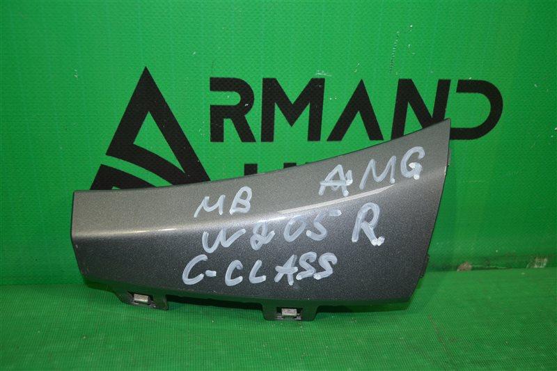 Накладка бампера amg Mercedes С W205 2014 передняя правая (б/у)