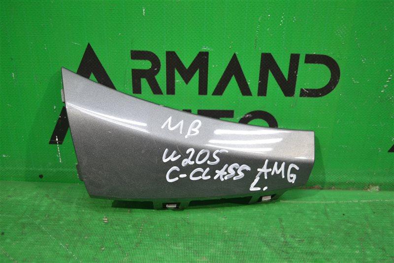 Накладка бампера amg Mercedes С W205 2014 передняя левая (б/у)