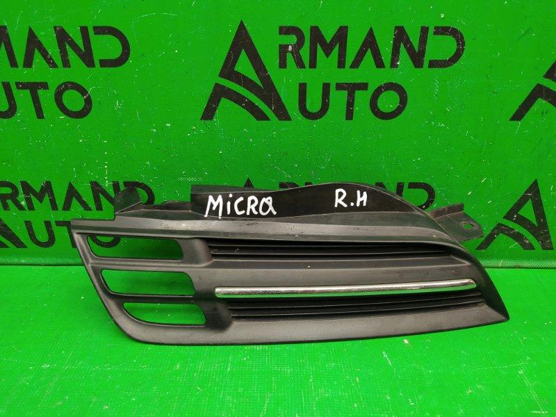 Решетка радиатора Nissan Micra 3 2002 правая (б/у)