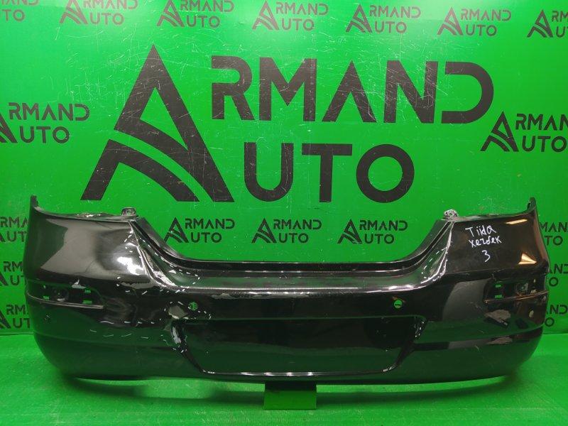 Бампер Nissan Tiida C11 РЕСТАЙЛИНГ 2010 задний (б/у)