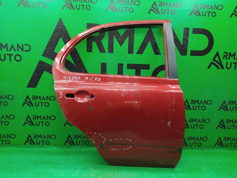 Дверь Nissan Micra 3 2002 задняя правая (б/у)
