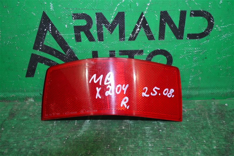 Катафот бампера Mercedes Glk X204 2008 правый (б/у)