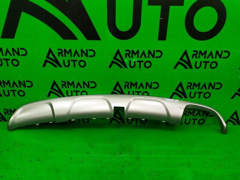 Накладка бампера Hyundai Santa Fe 3 2012 задняя (б/у)