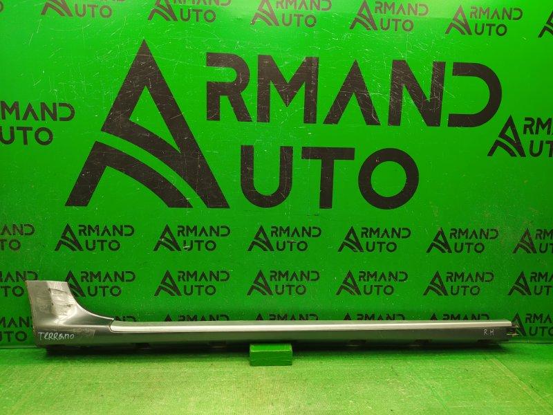 Накладка порога Nissan Terrano 3 2014 правая (б/у)