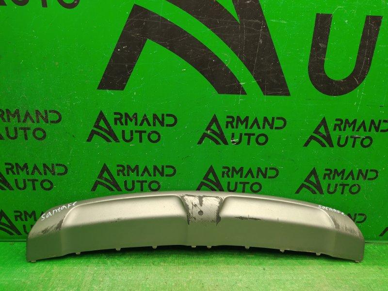 Накладка бампера Hyundai Santa Fe 3 РЕСТАЙЛИНГ 2015 передняя (б/у)