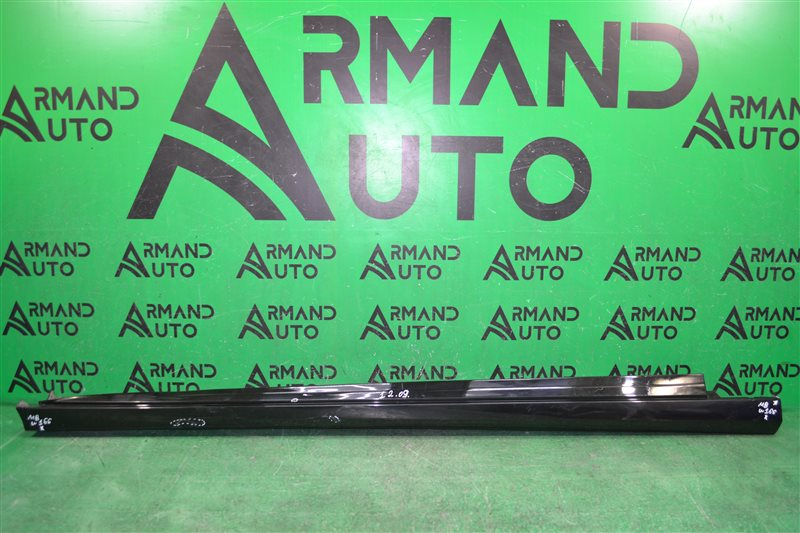 Накладка порога amg Mercedes Ml W166 2011 правая (б/у)