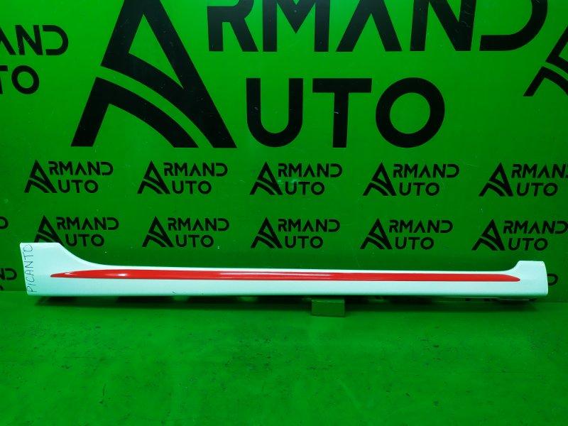 Накладка порога Kia Picanto 3 GT LINE 2017 правая (б/у)