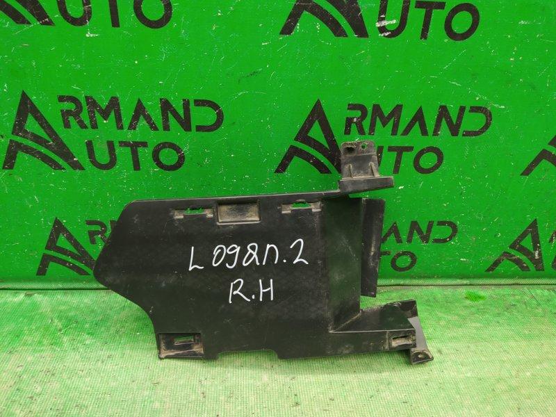 Дефлектор радиатора Renault Logan 2 2014 правый (б/у)