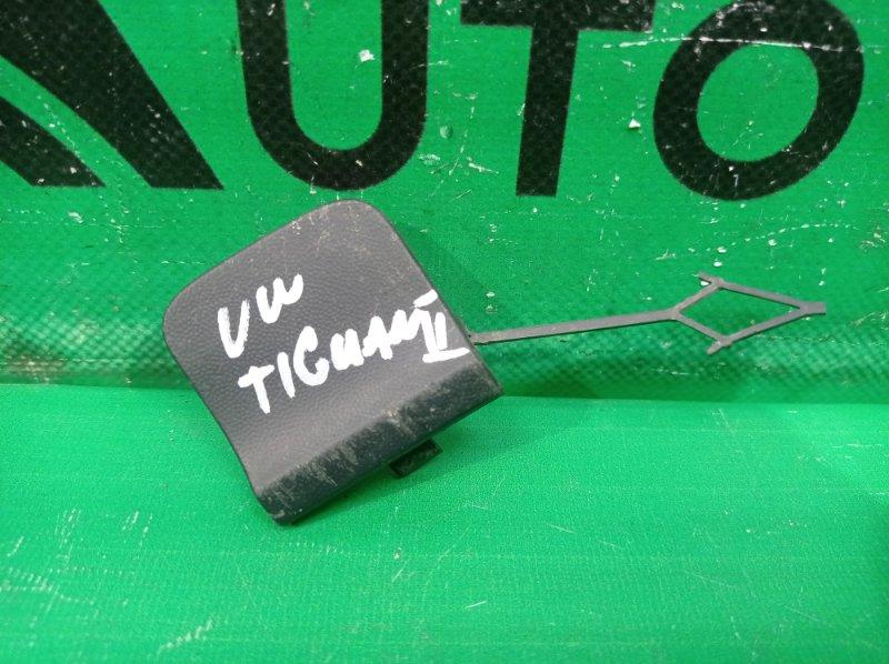 Заглушка буксировочного крюка Volkswagen Tiguan 2 2016 задняя (б/у)