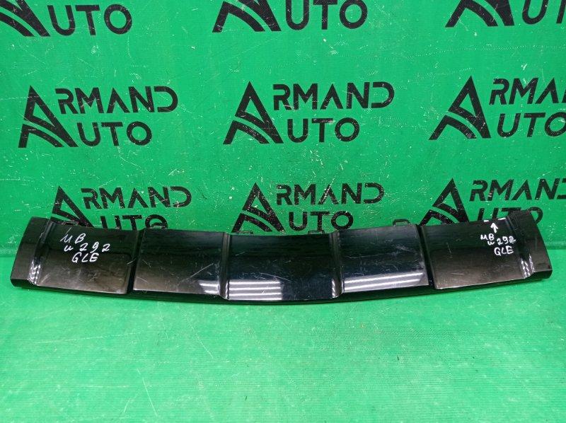 Накладка бампера Mercedes Gle Coupe C292 2015 передняя нижняя (б/у)