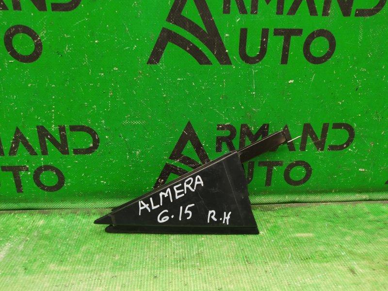 Накладка двери Nissan Almera G15 2013 задняя правая (б/у)