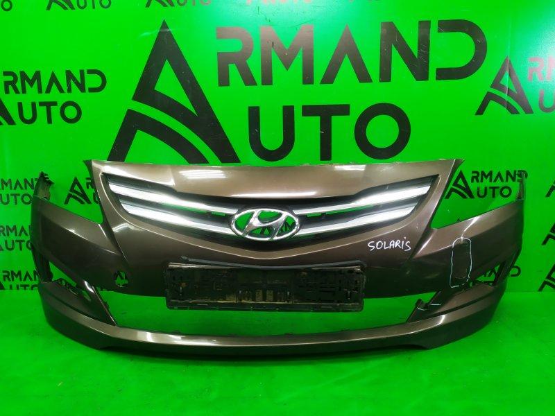 Бампер Hyundai Solaris 1 РЕСТАЙЛИНГ 2014 передний (б/у)