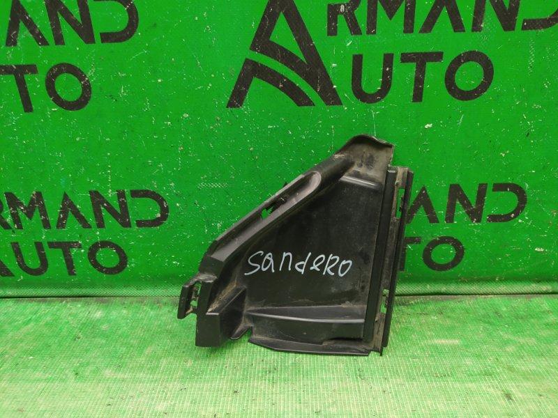 Дефлектор радиатора Renault Sandero 2 2014 правый (б/у)