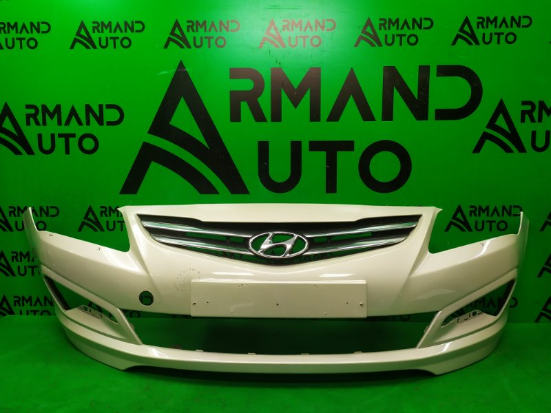 Бампер Hyundai Solaris РЕСТАЙЛИНГ 2014 передний (б/у)