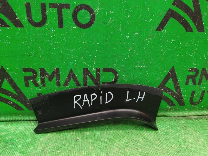 Накладка фонаря Skoda Rapid 2012 левая (б/у)