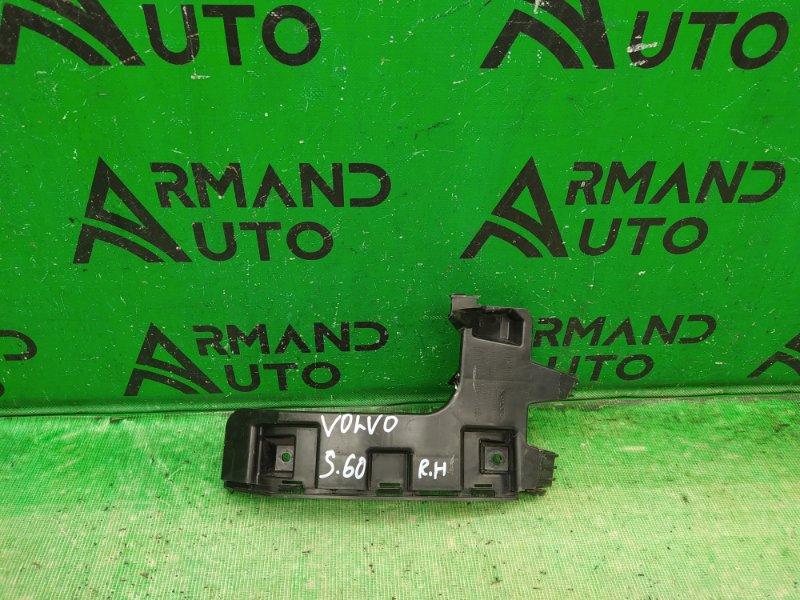 Кронштейн бампера Volvo S60 2 2010 задний правый (б/у)