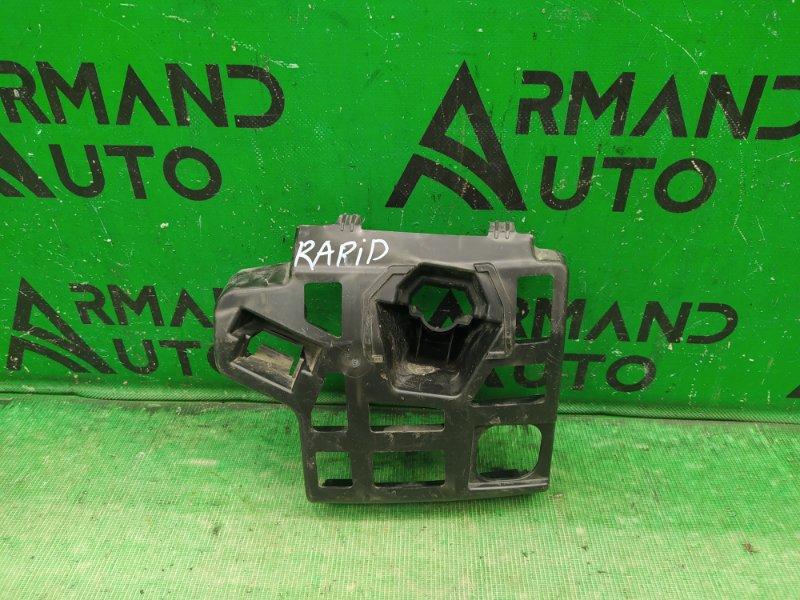 Кронштейн бампера Skoda Rapid 2012 передний правый (б/у)