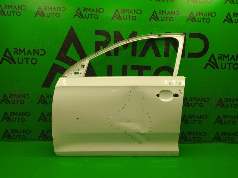 Дверь Skoda Rapid 2012 передняя левая (б/у)