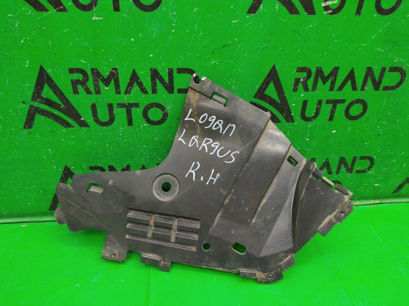 Пыльник бампера (двигателя) Renault Logan 2 2014 передний правый (б/у)