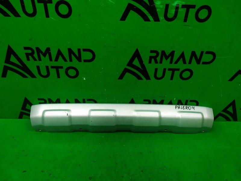 Накладка бампера Mitsubishi Pajero 4 РЕСТАЙЛИНГ 2 2014 передняя (б/у)