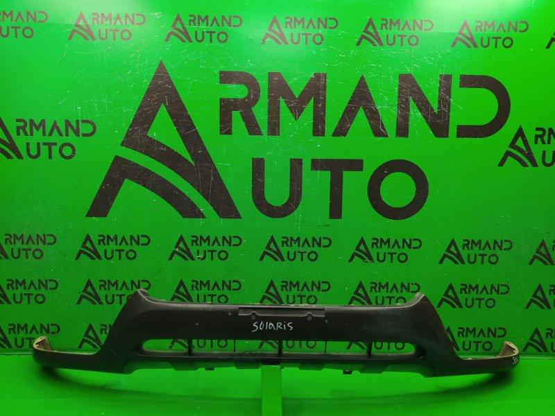 Юбка бампера Hyundai Santa Fe 2 РЕСТАЙЛИНГ 2009 передняя (б/у)