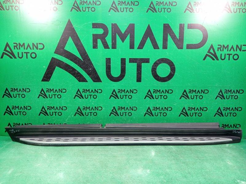 Накладка порога Mercedes Gl X166 2012 правая (б/у)