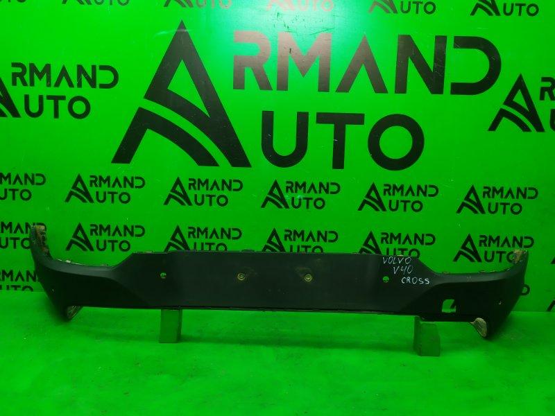 Юбка бампера Volvo V40 Cross Country 2012 задняя (б/у)