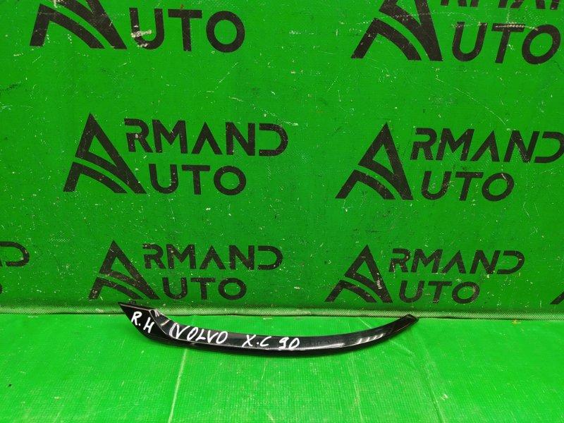 Накладка бампера Volvo Xc90 2 2014 задняя правая (б/у)