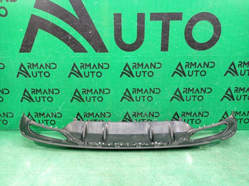 Юбка бампера Mercedes C W205 2014 задняя (б/у)