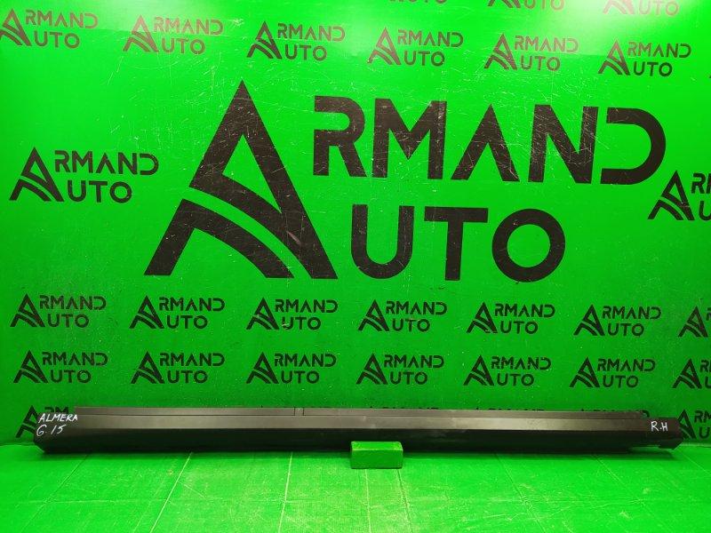 Накладка порога Nissan Almera G15 2012 правая (б/у)