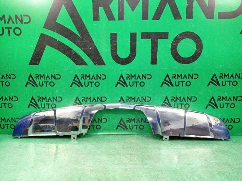 Накладка бампера Mercedes Gl X166 2012 задняя нижняя (б/у)