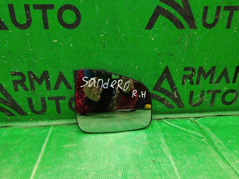 Зеркальный элемент Renault Sandero 2 2014 правый (б/у)