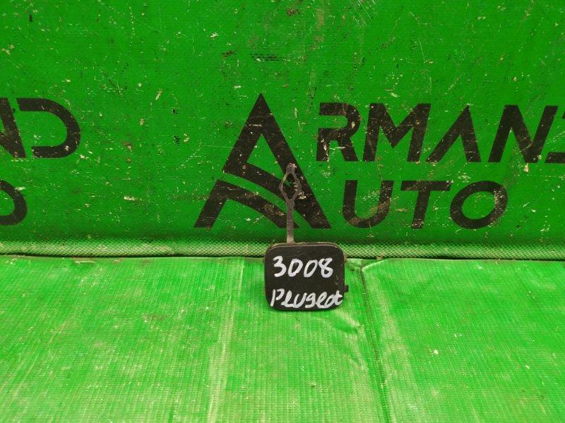 Заглушка бампера Peugeot 3008 1 2009 задняя (б/у)