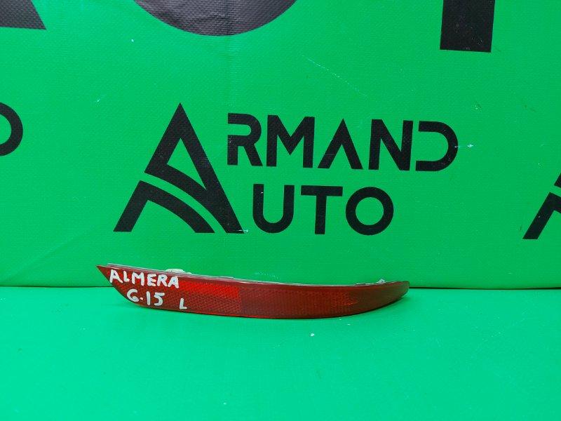 Катафот Nissan Almera G15 2013 левый (б/у)